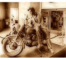 Elvis On A Harley  Photographic Print