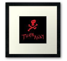 turn away (black) Framed Print