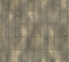 Rustic Metal Panels Texture Background Sticker