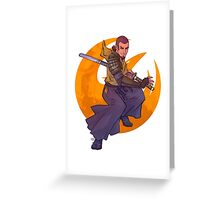 SWR Space Samurai Greeting Card