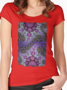 Mobius dragons and other patterns, fractal abstract artwork Women's Fitted Scoop T-Shirt