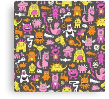 Monsters in Pink Canvas Print