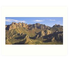Chisos Mountains Afternoon, Texas Art Print