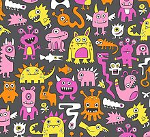 Monsters in Pink by CajaDesign
