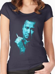 Bill Hicks (blue) Women's Fitted Scoop T-Shirt