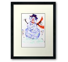 Scribbler Snowman Framed Print