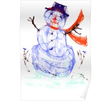 Scribbler Snowman Poster