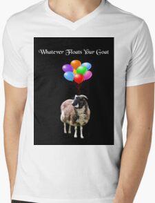 Whatever Floats Your Goat (black) Mens V-Neck T-Shirt