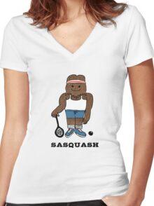 Sasquash Women's Fitted V-Neck T-Shirt