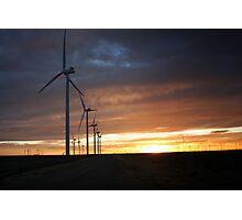 Wind Turbine Sunset #4 Photographic Print
