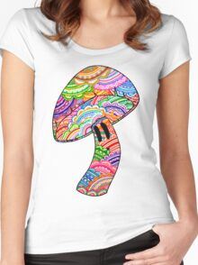 Sweet Mushroom Women's Fitted Scoop T-Shirt