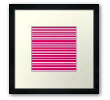 Bright hot and pale pink horizontal linework Framed Print