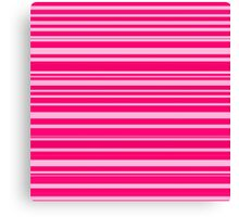 Bright hot and pale pink horizontal linework Canvas Print