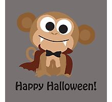 Cute Vampire Monkey. Happy Halloween! Photographic Print