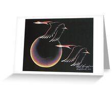 """Geese """"Going Home"""" Greeting Card"""