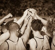 """""""Team"""" - athletes pulling together as a team by John Hartung"""