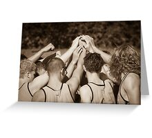 """Team"" - athletes pulling together as a team Greeting Card"