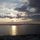 Pell Bridge at Sunset by endomental Artistry