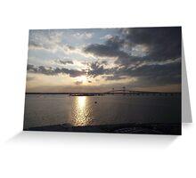 Pell Bridge at Sunset Greeting Card