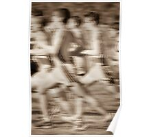 """""""The Race"""" - runners racing by Poster"""