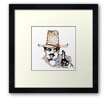 Scribbler Cowboy Framed Print
