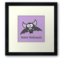 Happy Halloween! Vampire Bat Framed Print