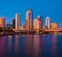 Downtown Tampa in Florida by ArtThatSmiles