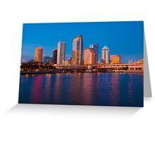 Downtown Tampa in Florida Greeting Card
