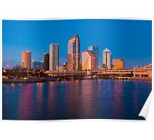 Downtown Tampa in Florida Poster