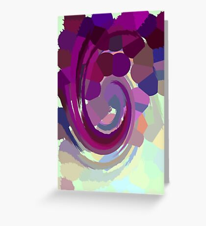 Psychedelic Paint Swirl - Purple Greeting Card