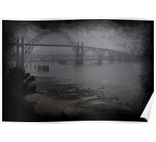 Yaquina Bay Bridge in the Fog Poster