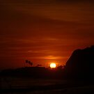 Sunset on PCH by tom j deters