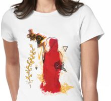 woman in red T-Shirt