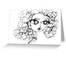Scribbler Girl 1 Greeting Card
