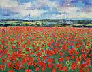 Poppy Painting by Michael Creese