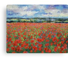 Poppy Painting Canvas Print