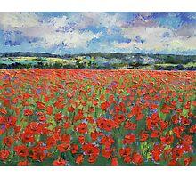 Poppy Painting Photographic Print