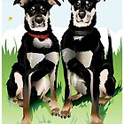 Fuzzy Face Art Poster/ Brady and Leroy by AdamPate