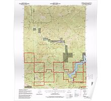 USGS Topo Map Oregon Carberry Creek 279272 1996 24000 Poster