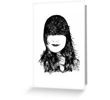Hair Scribbler Greeting Card