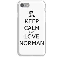 Keep Calm and Love Norman iPhone Case/Skin