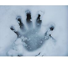 Handprint In The Snow Photographic Print