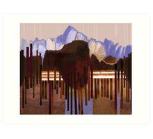 """""""Mountain View"""" Art Print"""