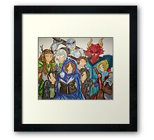 The Dungeon Master & Vox Machina Framed Print