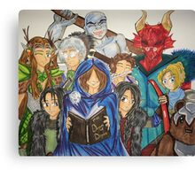 The Dungeon Master & Vox Machina Canvas Print