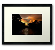On My Way Home Framed Print