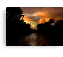 On My Way Home Canvas Print