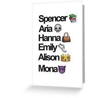 Pretty Little Liars Emoji Greeting Card