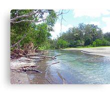 Tropical Estuary - Port Resolution, Tanna Canvas Print
