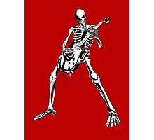 Skeleton Bones Dead Electric Guitar Player Photographic Print